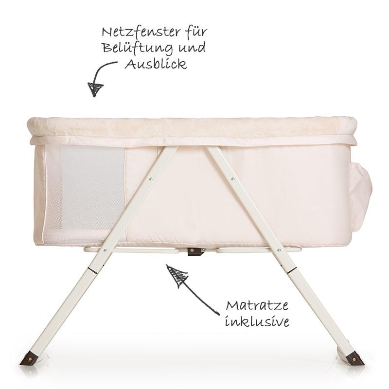 hauck babybett beistellbett stubenwagen wiege dreamer. Black Bedroom Furniture Sets. Home Design Ideas