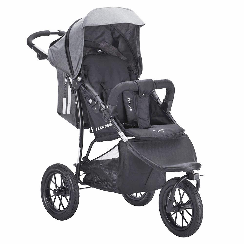 knorr baby sportwagen buggy kinderwagen joggy active exklusiv in schwarz grau ebay. Black Bedroom Furniture Sets. Home Design Ideas