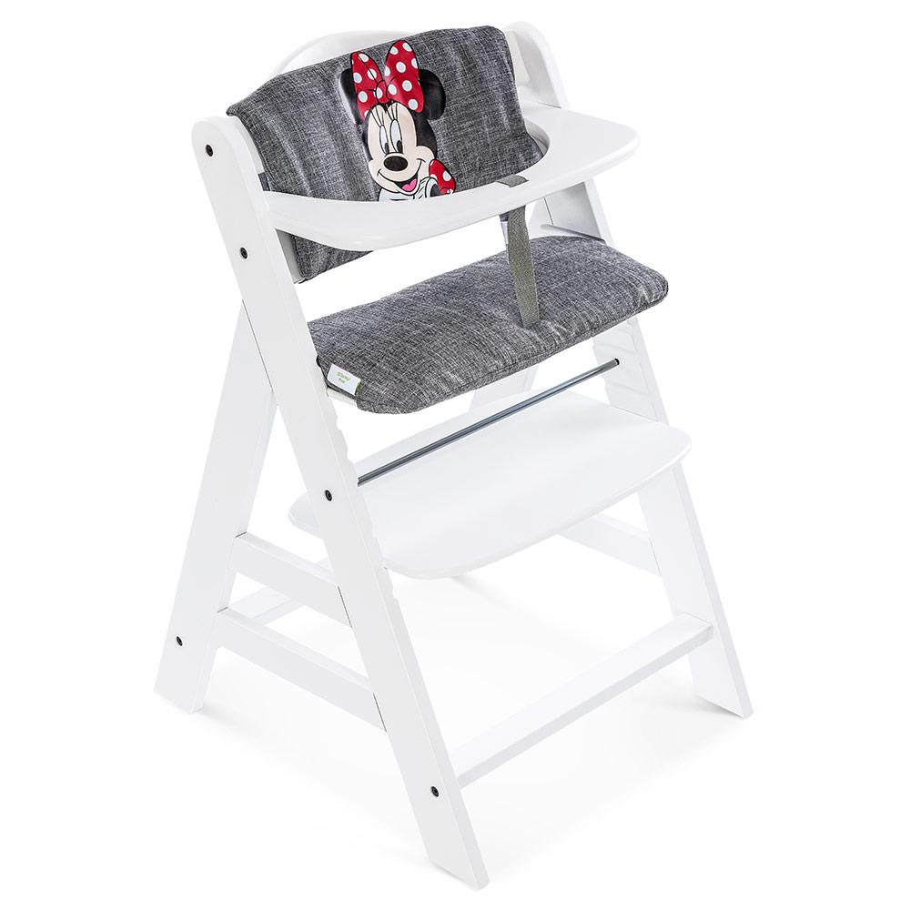 hauck hochstuhlauflage sitzverkleinerer disney deluxe minnie mouse grey ebay. Black Bedroom Furniture Sets. Home Design Ideas