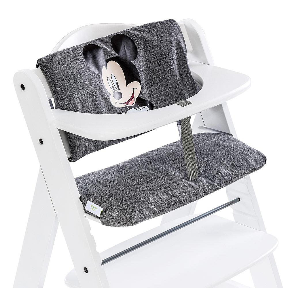 hauck hochstuhlauflage sitzverkleinerer disney deluxe mickey mouse grey ebay. Black Bedroom Furniture Sets. Home Design Ideas