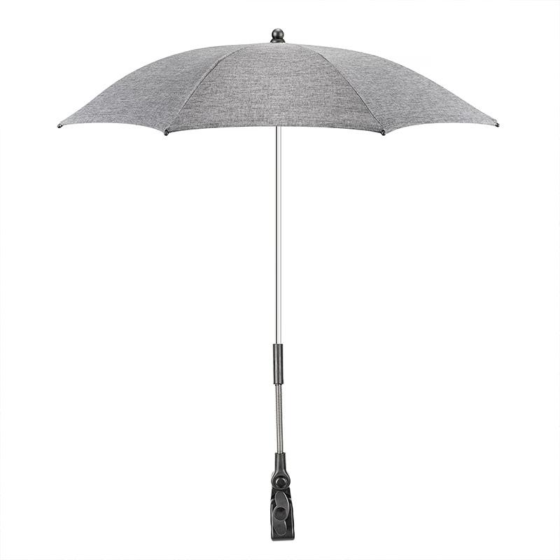 universal sonnenschirm f r kinderwagen buggy uv schutz 50 melange grey ebay. Black Bedroom Furniture Sets. Home Design Ideas