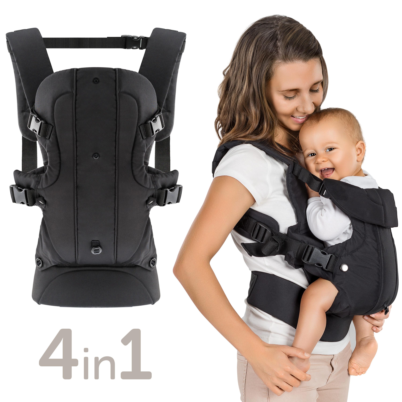 Khaki R/ücken- und H/üfttrage ELENKER Babytrage 4 Tragpositionen 3-18KG, 0-30 Monate Bauch-