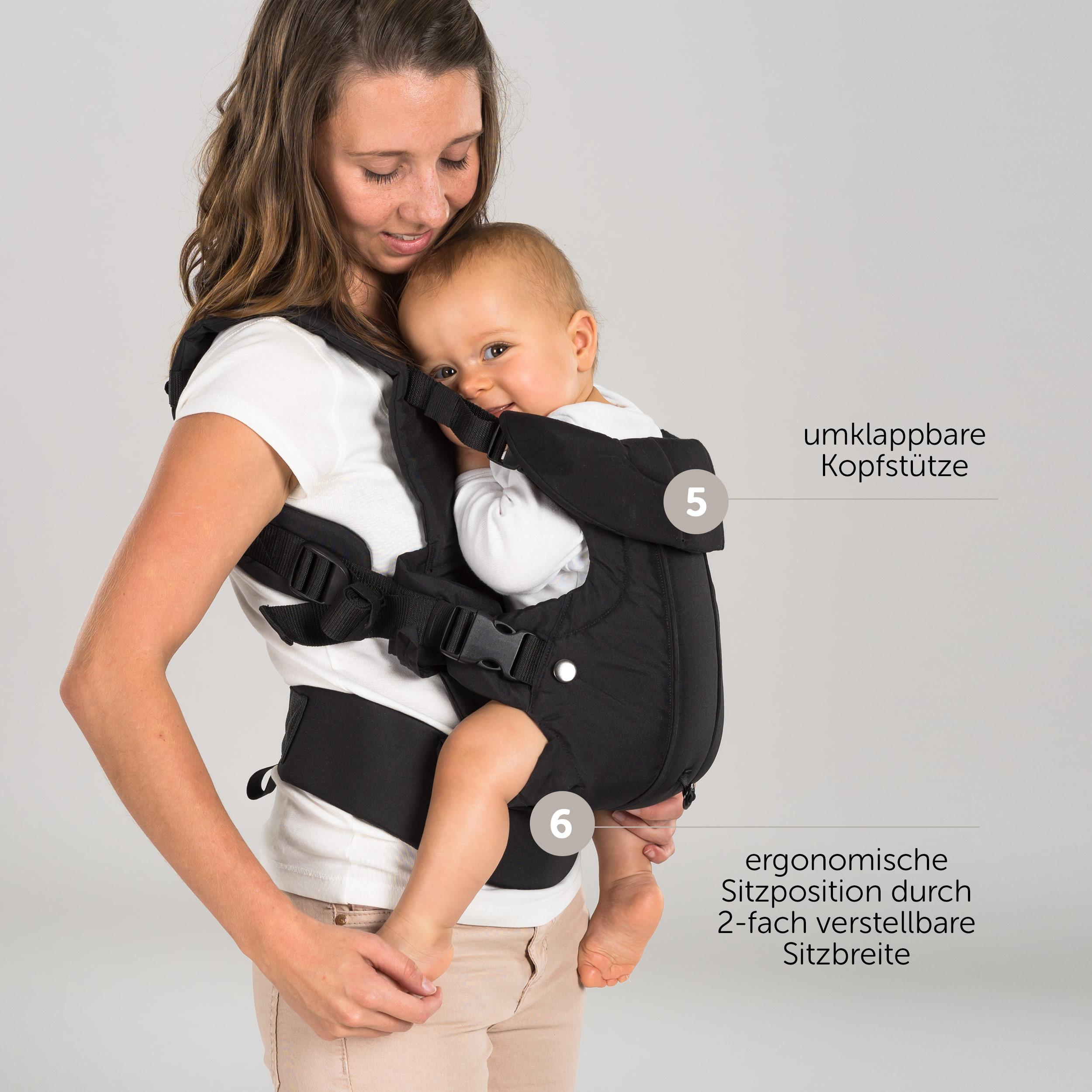 Fillikid Ergonomische Babytrage//Kindertrage 4in1 v Rückentrage Bauchtrage