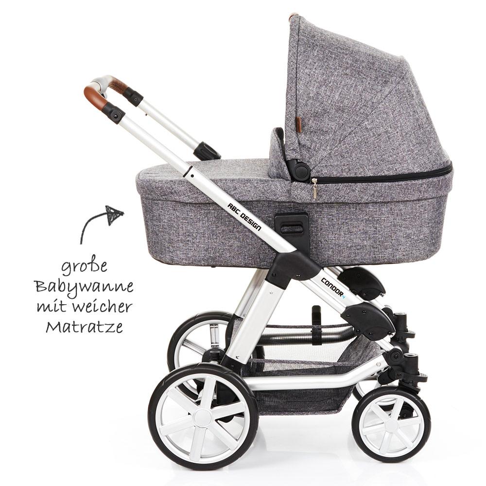 abc design condor 4 kombi kinderwagen set 2in1 race inkl babywanne neu 2018 ebay. Black Bedroom Furniture Sets. Home Design Ideas