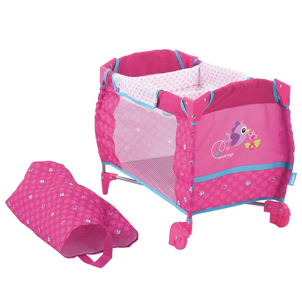 hauck toys for kids puppen reisebett set inkl wickelaufsatz und transporttasche ebay. Black Bedroom Furniture Sets. Home Design Ideas
