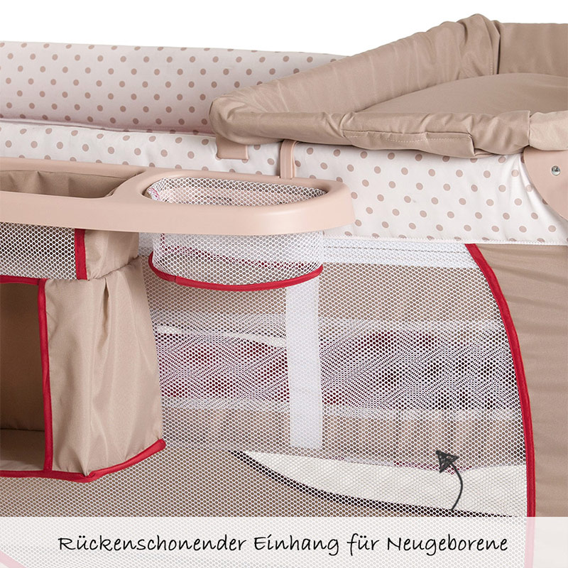 hauck baby reisebett babycenter giraffe kinderreisebett mit wickelauflage ebay. Black Bedroom Furniture Sets. Home Design Ideas