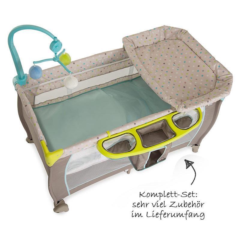 hauck baby reisebett babycenter multi dots. Black Bedroom Furniture Sets. Home Design Ideas