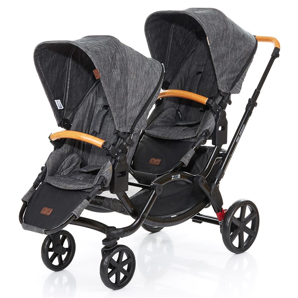 Zwillingskinderwagen hintereinander  ABC Design Geschwisterwagen Kinderwagen Zwillingswagen Zoom ...