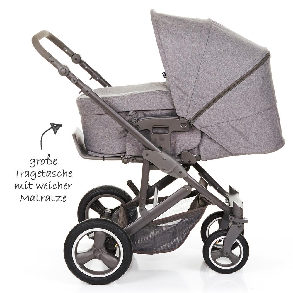 abc design kombi kinderwagen buggy 2in1 merano 4 air mit. Black Bedroom Furniture Sets. Home Design Ideas