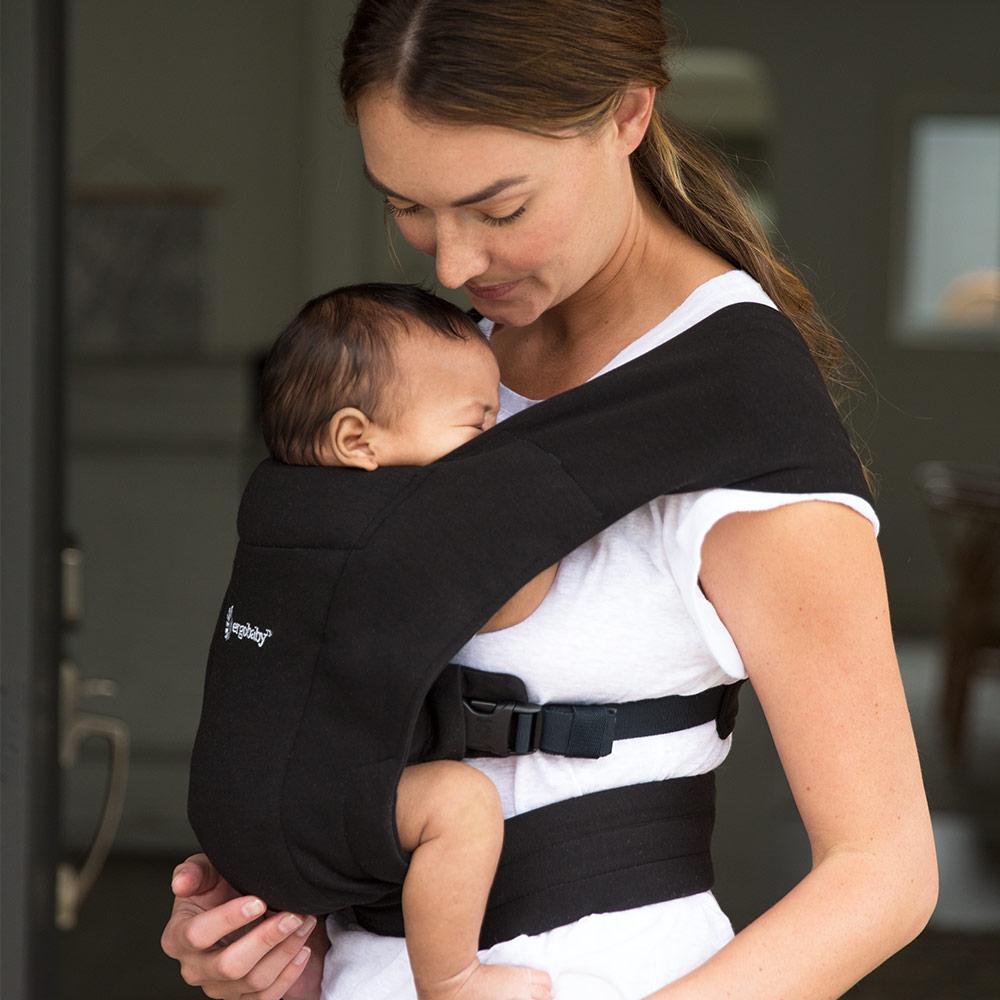 Embrace Bauchtrage Baby-Tragetasche Ergonomisch Blush Pink Ergobaby Babytrage f/ür Neugeborene ab Geburt Extra Weich