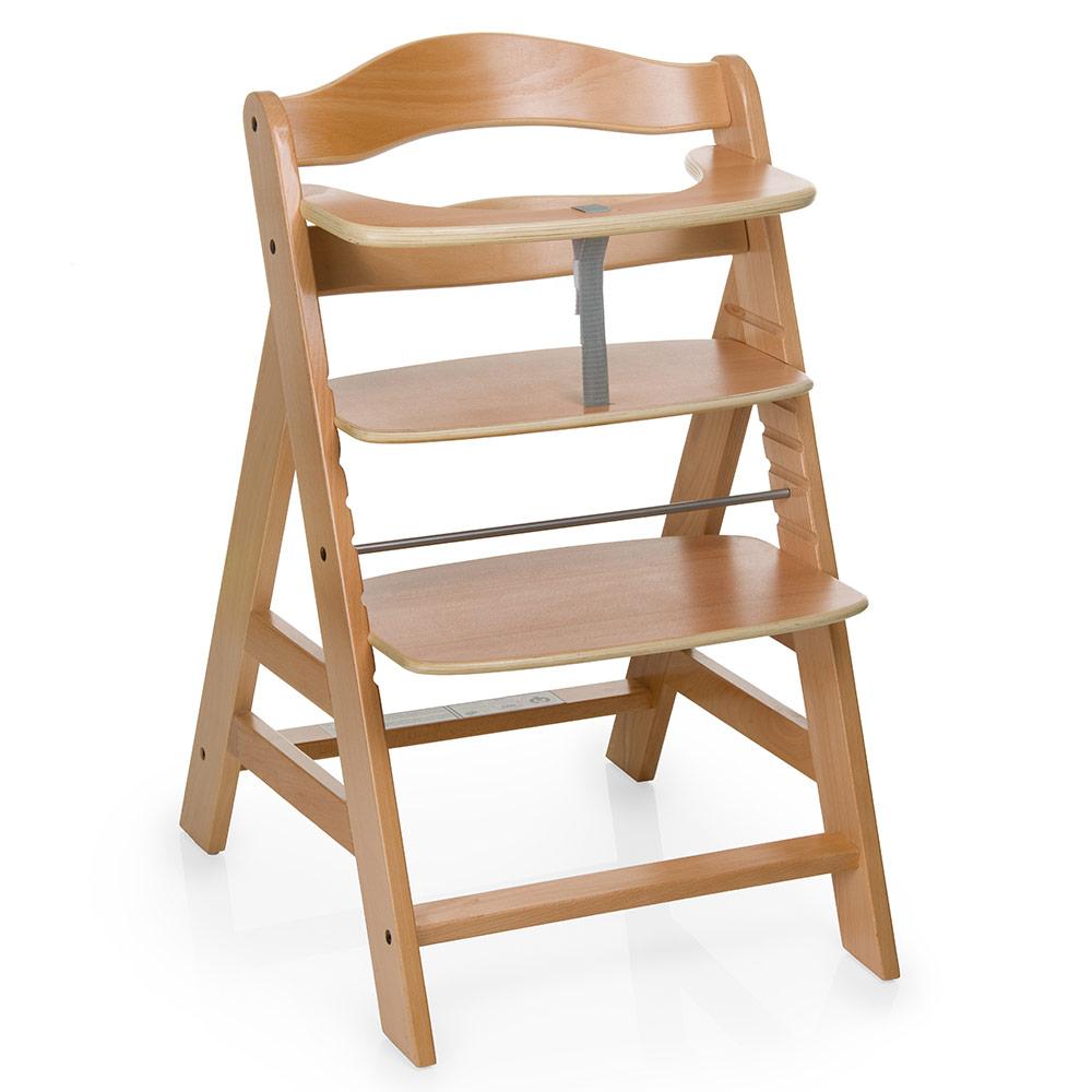 hauck hochstuhl alpha plus holz natur newborn set neugeboreneneinsatz wippe ebay. Black Bedroom Furniture Sets. Home Design Ideas