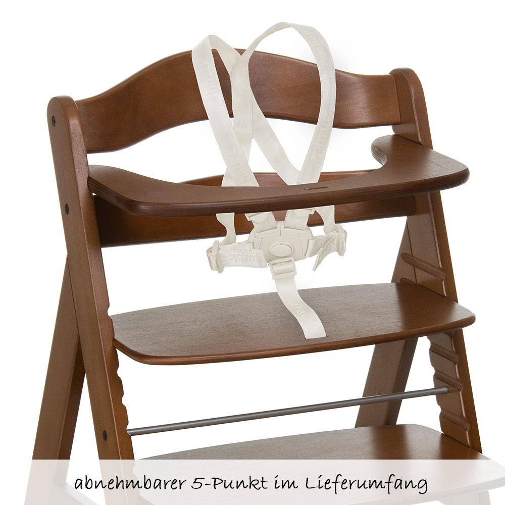 hauck hochstuhl alpha plus holz newborn set inkl neugeborenenaufsatz wippe ebay. Black Bedroom Furniture Sets. Home Design Ideas