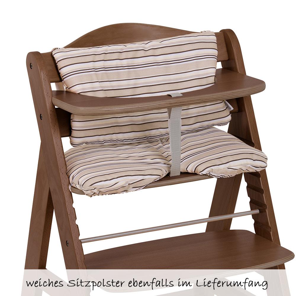 hauck hochstuhl alpha plus holz newborn set inkl neugeborenenaufsatz wippe 4251209100404 ebay. Black Bedroom Furniture Sets. Home Design Ideas