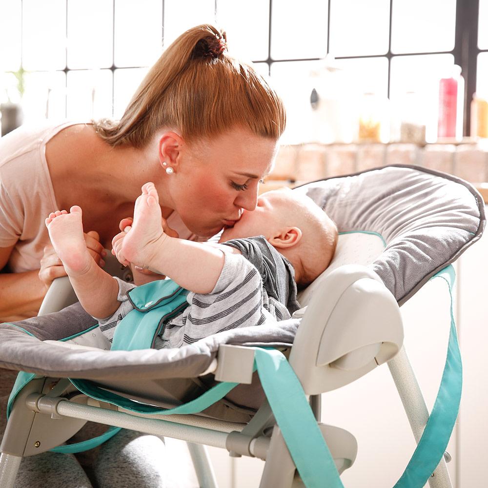 hauck hochstuhl kinderhochstuhl babyliege kombi ab geburt sit 39 n relax hearts ebay. Black Bedroom Furniture Sets. Home Design Ideas