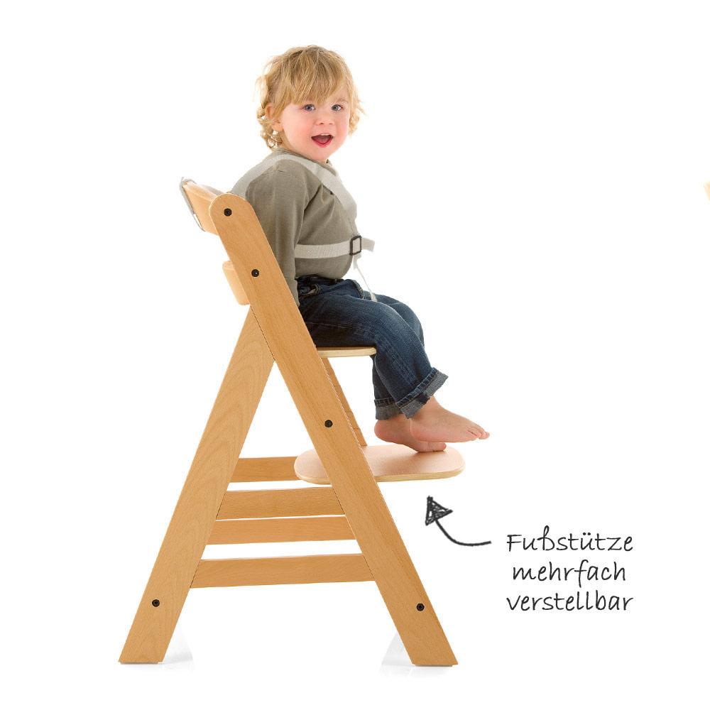 hauck baby kinder hochstuhl gamma plus natur mit essbrett sitzpolster deluxe ebay. Black Bedroom Furniture Sets. Home Design Ideas