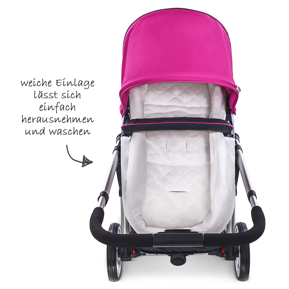 hauck kombi kinderwagen buggy 2in1 manhattan mit babywanne. Black Bedroom Furniture Sets. Home Design Ideas