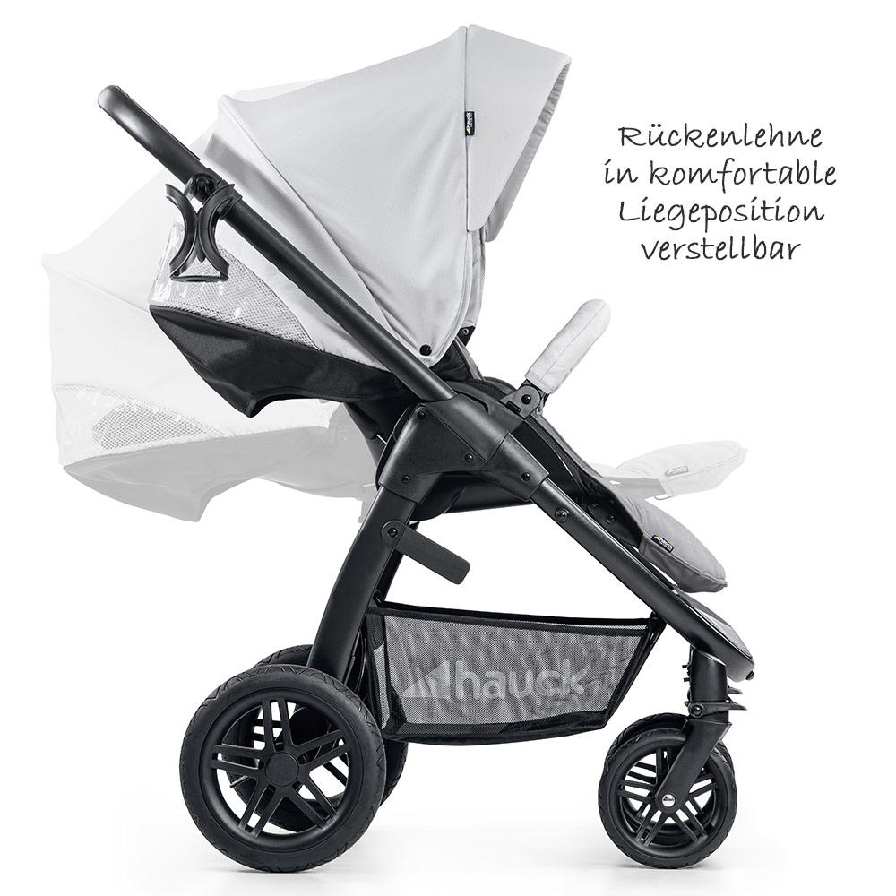 Saturn R Duoset Babywanne inkl Buggy und Zubeh/örpaket Kombikinderwagen ab Geburt bis 25 kg Hauck 10-teiliges Kinderwagen-Set 2in1 Lunar Stone