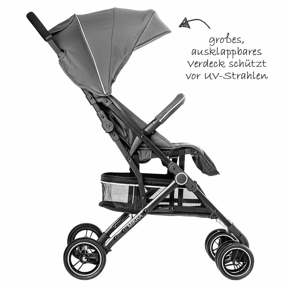 hoco leichter buggy kinderwagen mit liegeposition klein zusammenklappbar grau ebay. Black Bedroom Furniture Sets. Home Design Ideas