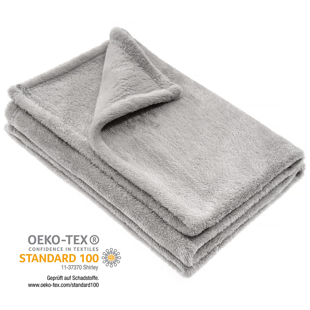 Weiß Jacky Kuscheldecke Baby Decke Micro Fleece 75 x 100 cm 60° waschbar