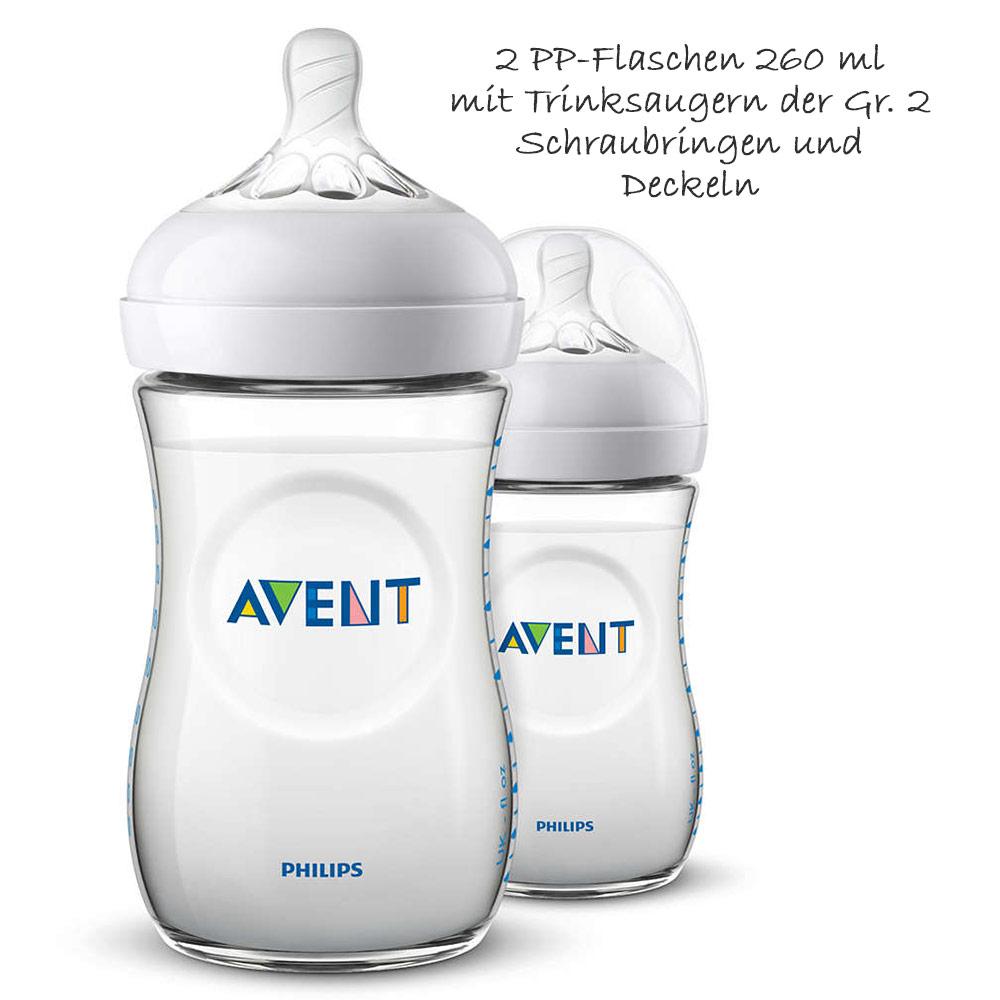 Philips Avent Glas Flaschen Set 11-tlg Babyflaschen Flaschenbürste Spucktücher