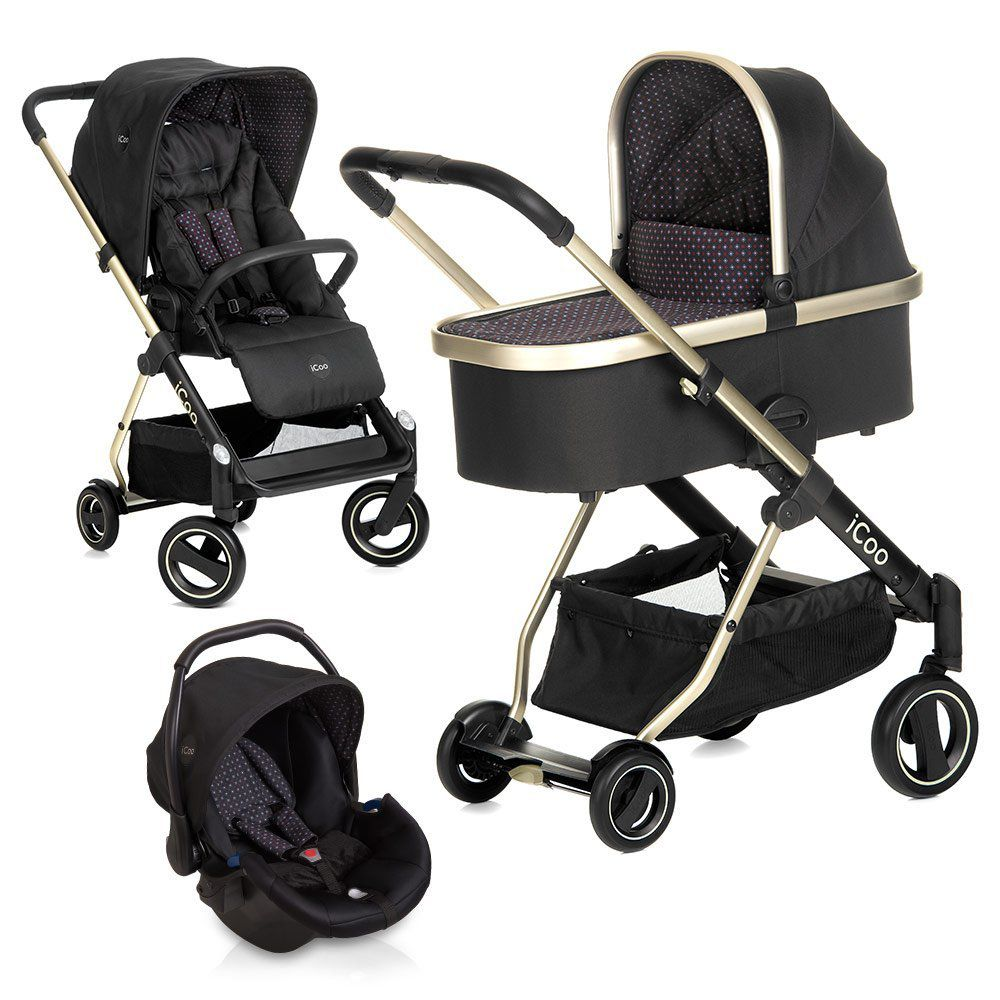iCoo Kinderwagen-Set Acrobat XL Plus Trioset - Diamond Caviar