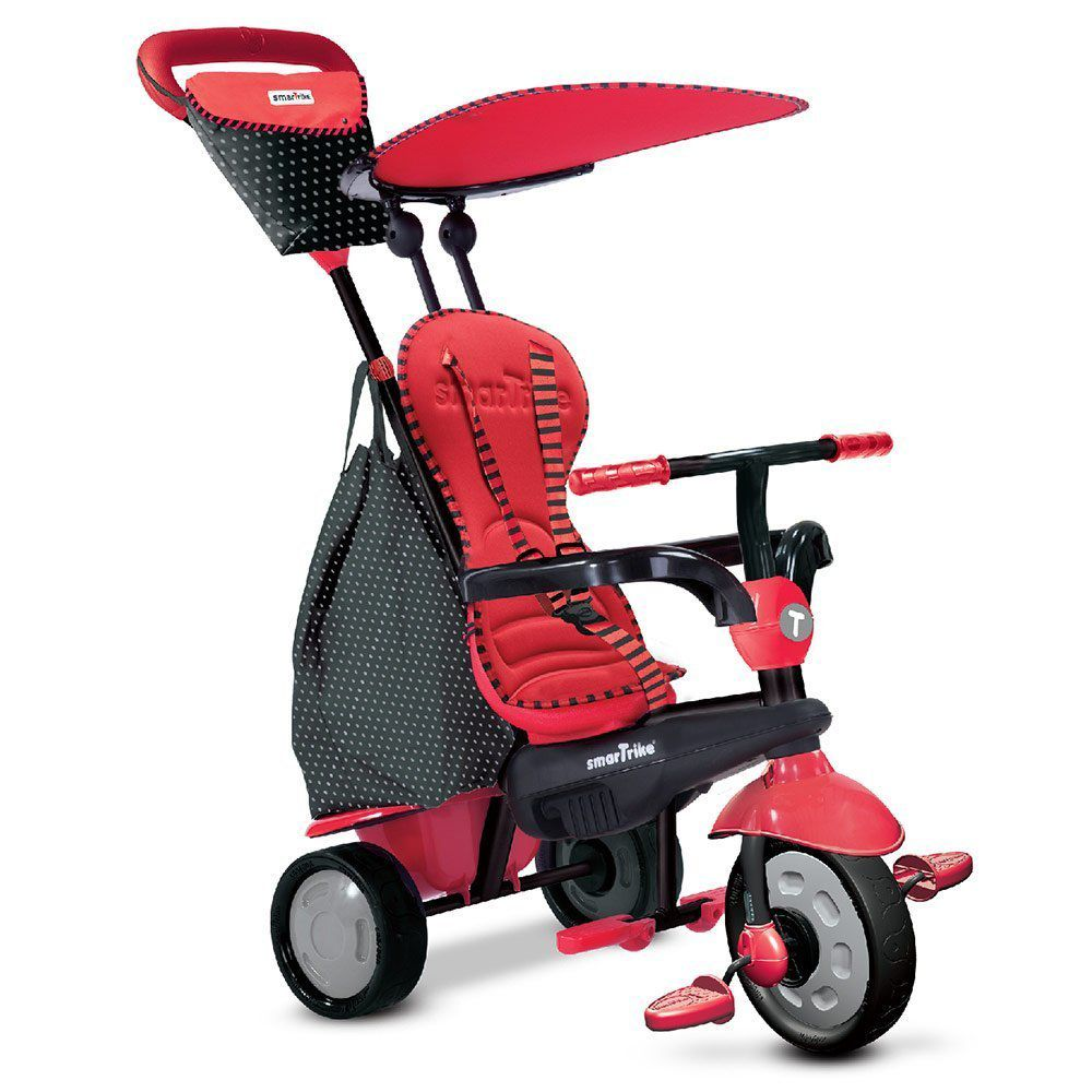 Smart Trike Dreirad Glow 4 in 1 mit Touch Steering - Red