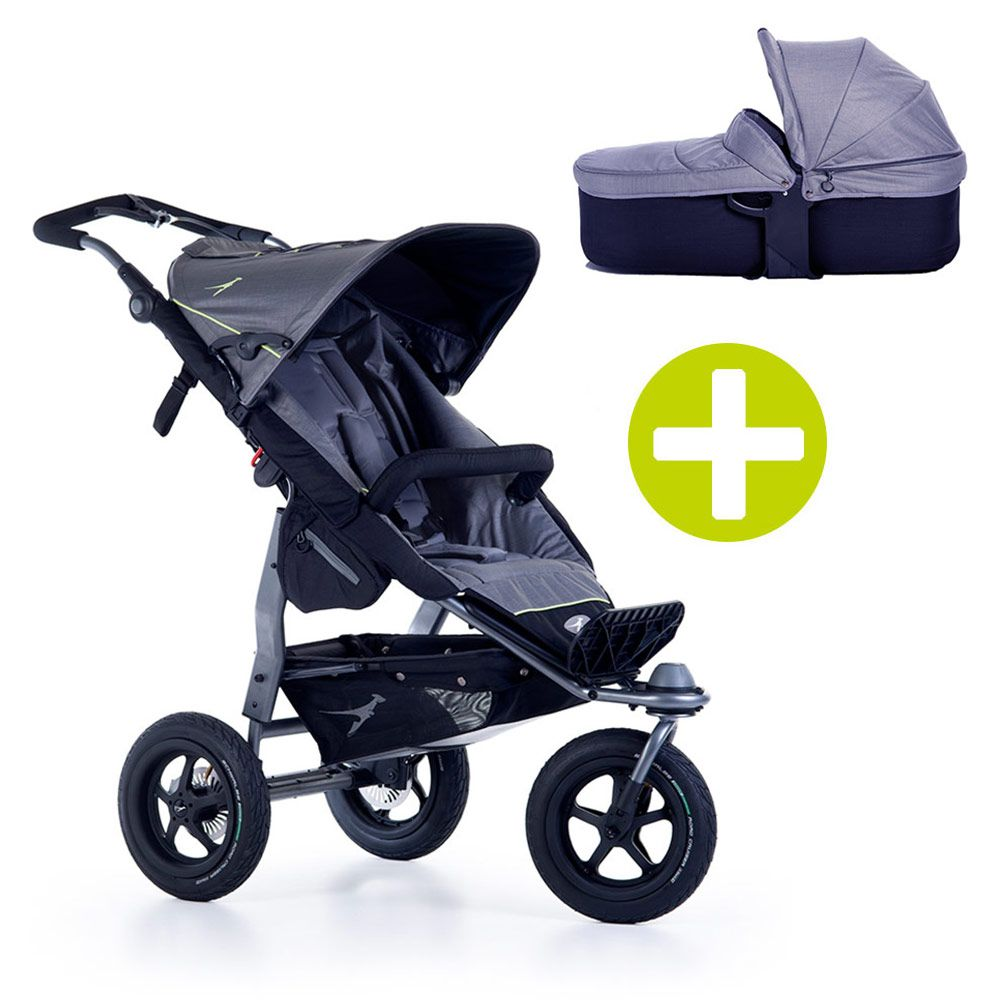 TFK 2-1 Kombi-Kinderwagen-Set Joggster Adventure 2 & Babywanne Quickfix - Quiet Shade