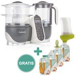 Babymoov Multifunktionsgerät Nutribaby Plus Grey + Gratis Set Quetschbeutel Foodii