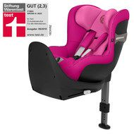 Cybex Reboarder-Kindersitz Sirona S i-Size inkl. Base M - Fancy Pink Purple
