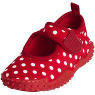 Playshoes Bade-Schuh Punkte - Rot - Gr. 20 / 21