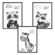 Luvel Poster 3er Set - Sweet Happy Cute - A4