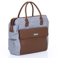 Diaper bag Jetset - incl. diaper changing mat, bottle warmer and utensil bag - Graphite Grey