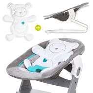 Newborn attachment & rocker for Alpha high chair - Bouncer 2in1 - Hearts Grey