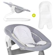 Newborn attachment & rocker for Alpha highchair - Bouncer 2in1 - Stretch Grey