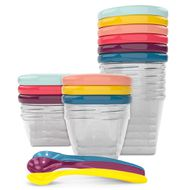 15-piece multi-set storage container Babybols incl. feeding spoon