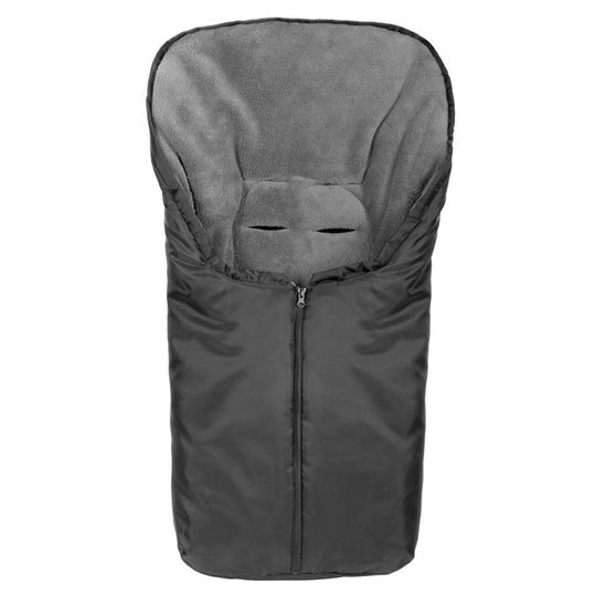 Universal Thermo-Footmuff Comfort for baby seat, car seat and baby bath - Black Grey