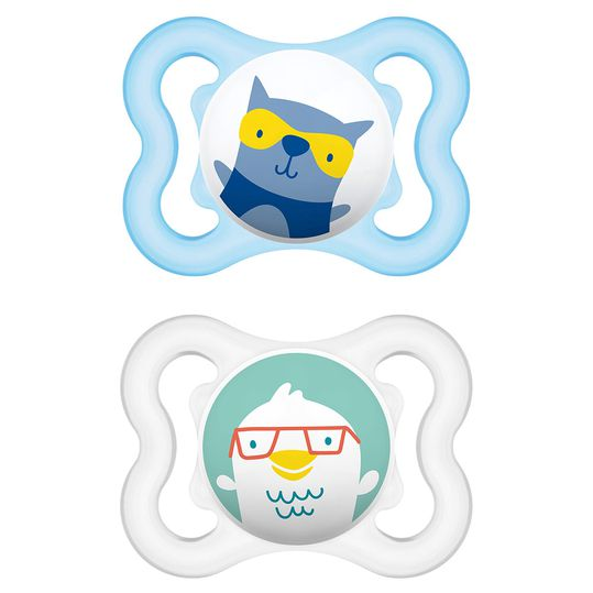 Pacifier 2er Pack Air - Silicone 0-6 M - for boys