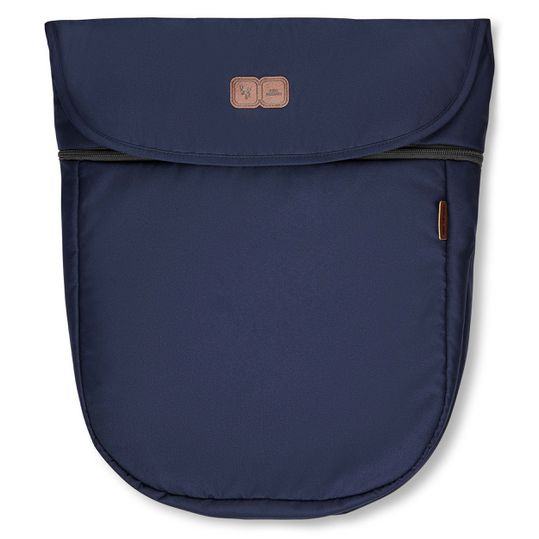 Mitwachsende Beindecke für Kinderwagen - Diamond Edition - Navy