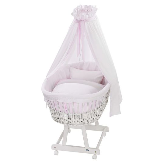 Complete bassinet Birthe White - Little Dots - Rose