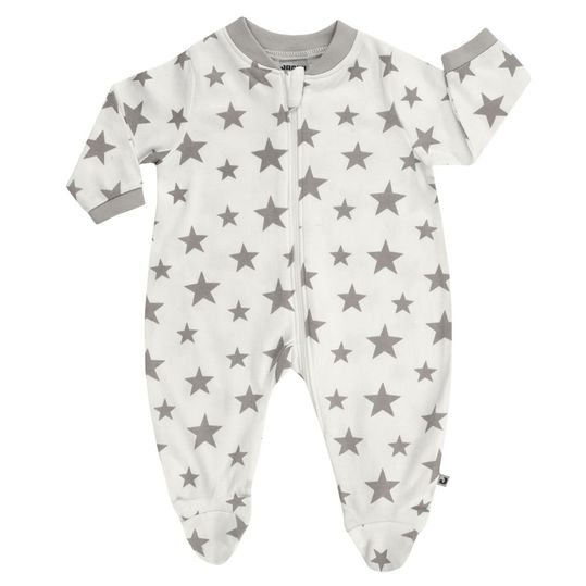 Pajamas One Piece Suit Offwhite - Stars Grey - Gr. 50/56