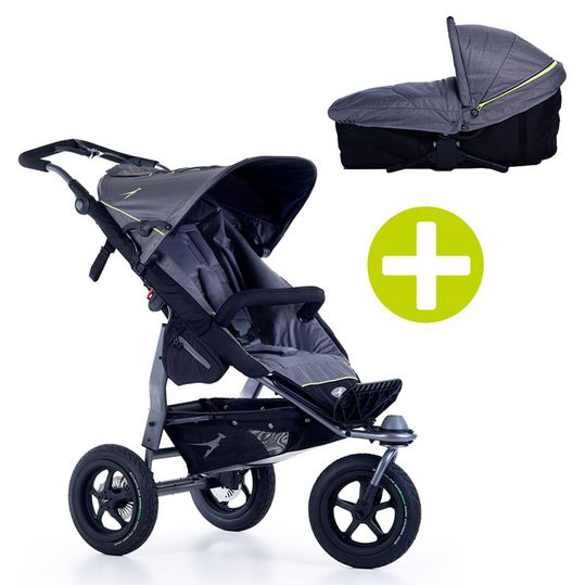 2-1 Kombi-Kinderwagen-Set Joggster Adventure 2 & Babywanne Multi X - Quiet Shade