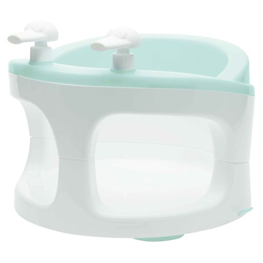 Baby bath seat with pump toy - Mint Green