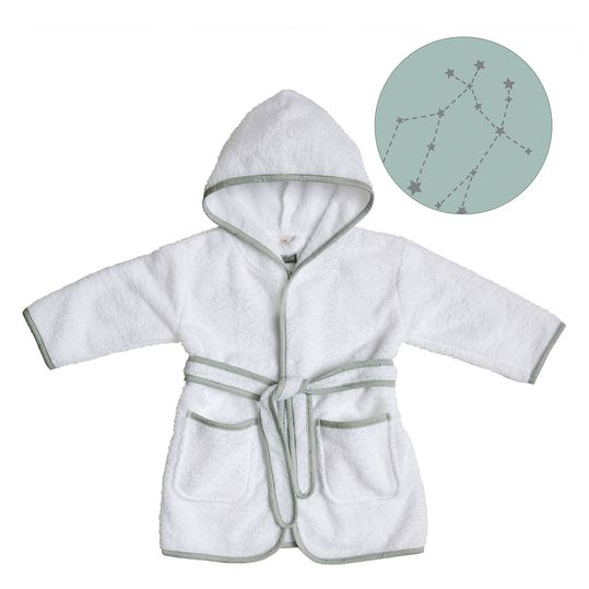 Bademantel Northern Lights Bathrobe - White / Green