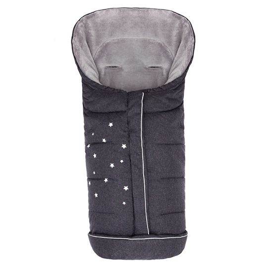 Fleece footmuff Askja Big - Melange Black