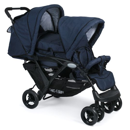 Sibling carriage Duo - Jeans Navy Blue