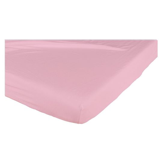 Fitted sheet for crib 70 x 140 cm - raspberry