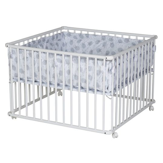 Playpen Basic White incl. insert 100 x 100 cm - Sheep - Grey