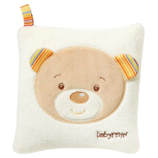 Warming cushion with cherry pit filling 16x16 cm - Rainbow Teddy