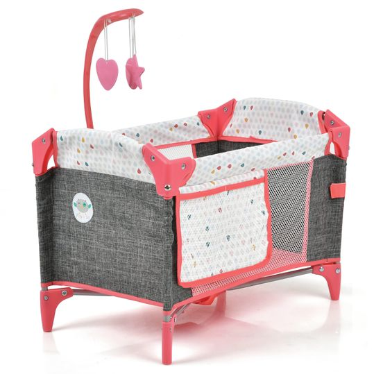 Puppen Reisebett Sleep'n Play - Play'n Go - Red / Melange Grey