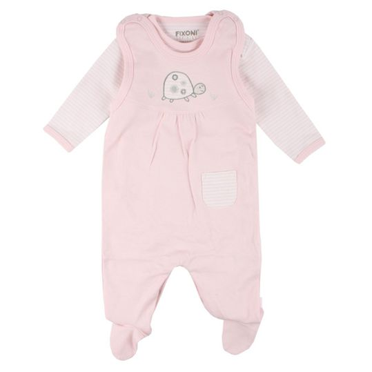 2-piece set romper + body infinity turtle - pink - size 50